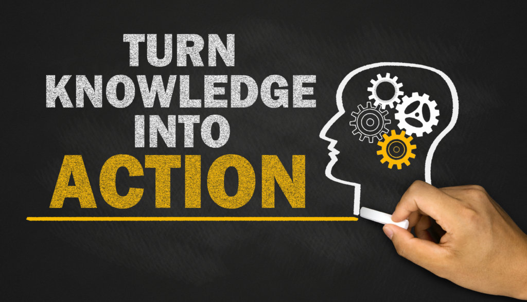 turn knowledge into action on blackboard