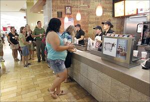 Use franchise software at the counter
