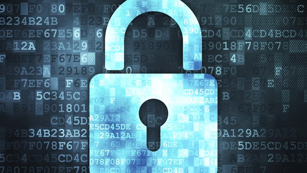 data-concept-closed-padlock-on-digital-background